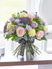 Luxury Pastel Rose and Freesia Hand-tied