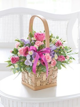 Happy Birthday Scented Pink & Lilac Basket