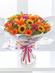 Extra Large Dazzling Sunflower Hand-TIed