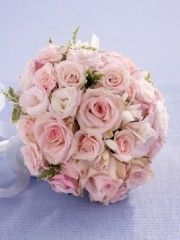 Soft Pink Rose & Orchid Bridal Bouquet