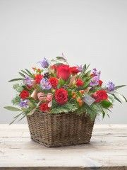 Cosy Crimson Basket